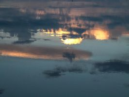 Sky reflection in water II by StarsColdNight