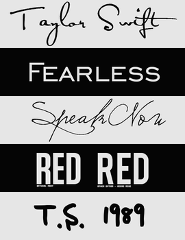 Taylor Swift Fonts by intoxicatedvogue