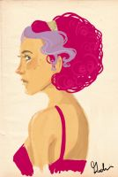 Fiona with her pink hair by rosalarian
