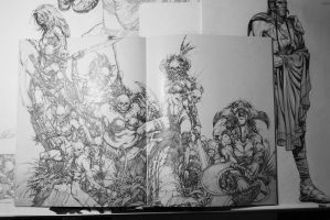 Sample interior of sketchbook by keucha