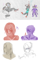 Attack On Homestuck Sketchdump by The-Concept-Artist
