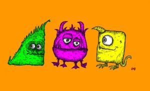 Simple Colours Monsters by billiambabble