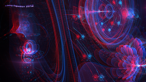 The galactic hologram Anaglyph 3D Stereoscopy by Osipenkov