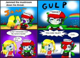 SPOILERS Cave Story Comic: Mushrooms by purplemagechan