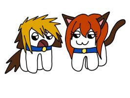 .: vic puppy and michele kitten :. by ASinglePetal