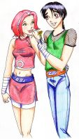 Lee and Sakura by SparrowsHellcat