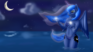 Anthro Princess Luna by RenateThePony