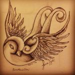 swallow tattoo design by LJ5784