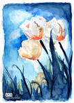 Flowers (watercolour) by CloudN