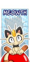 Bookmark: Meowth by Extra-Fenix