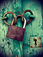 Rusty Locks of Old Green Door by madundar