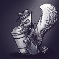 Squirrel with Coffee by NAD-LifeOfficial