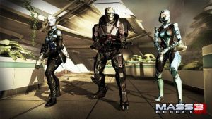 Garrus, Liara and EDI in new outfits. by FallenAngelInaYasha