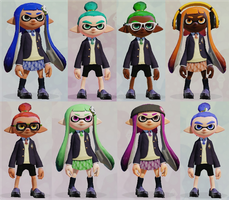 New Inkling OCs: The Preparatory Squids by Starlight790