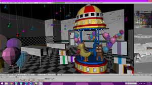 [FNAF 2 WIP] Merry go round by kilala1148