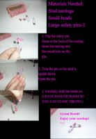 How To Make Safety Pin Earrings (Super easy!) by DawnOfTheFeline