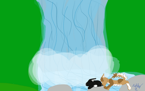 The Waterfall by AGirlWithDreams96