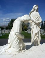 Mount Olivet Cemetery Crucifixion 9 by Falln-Stock
