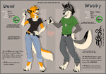 Deni and Mushy Dual Reference Sheet (2012) by SilverDeni