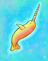 Wayward the Narwhal by aunjuli