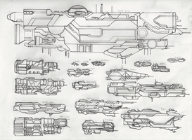 Halo - UNSC Vessels by ninboy01