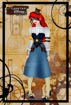 Steampunk Ariel III by HelleeTitch