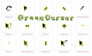 Green Cursor by kittymoon23