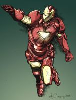 Iron Man Pencil 1 Colors by ncajayon