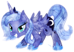 Crystal [younger] Princess Luna by TheShadowStone