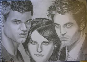 Twilight Drawing by elenouska15