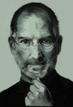 quick sketch of steve Jobs by billconan
