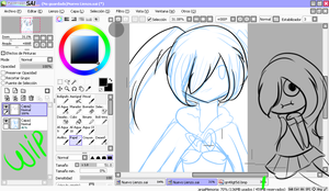 black rock shooter Wip by huter753