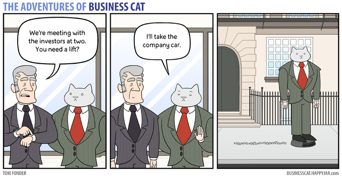 The Adventures of Business Cat - Ride by tomfonder