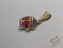 Lady Bug Pendant DRAWING by marcellobarenghi