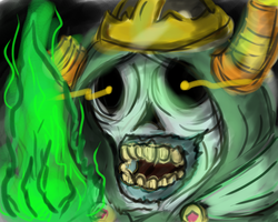 Speed Paint- The Lich from Adventure Time by k-the-dragonknight