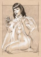 Bettie Page and Robot by sarahwilkinson