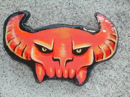 demon head belt buckle by missmonster