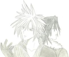 KH2: Cloud and Leon by zoya15
