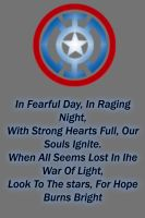 Blue Lantern Captain America Logo by Lord-Lycan
