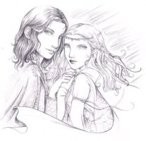 Faramir and Eowyn by lilie-morhiril