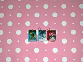 Heroes of Olympus Series Book Charms by ichigoluv