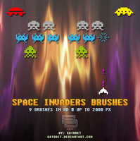 Space Invaders Brushes Set by GatoDet