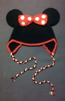 Minnie mouse earflap hat by argentinian-queen