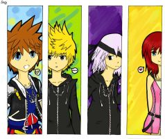 Kingdom Hearts Bookmarks by colorfulldrawer