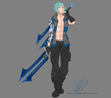 Commission:Rwby OC: Akua Ritter by hearts-and-pins