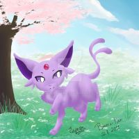 Espeon quickly doodle by pameratyan
