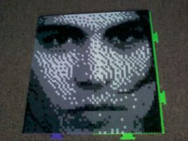 Johnny Depp Bead Mosaic by Werbenjagermanjensen
