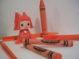 Food Gnome Papercraft by Tiffyx