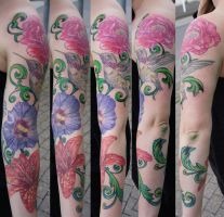 flower arm project in progress by graynd