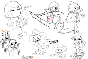 MS Paint Undertale Sketchdump by skushimi